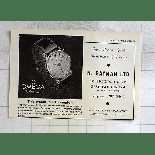 1963 Leading Watchmaker And Jeweller N Rayman East Twickenham