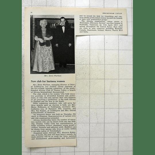 1963 New Businesswomen Altrusa Club Thames Valley Mrs Doris Warham