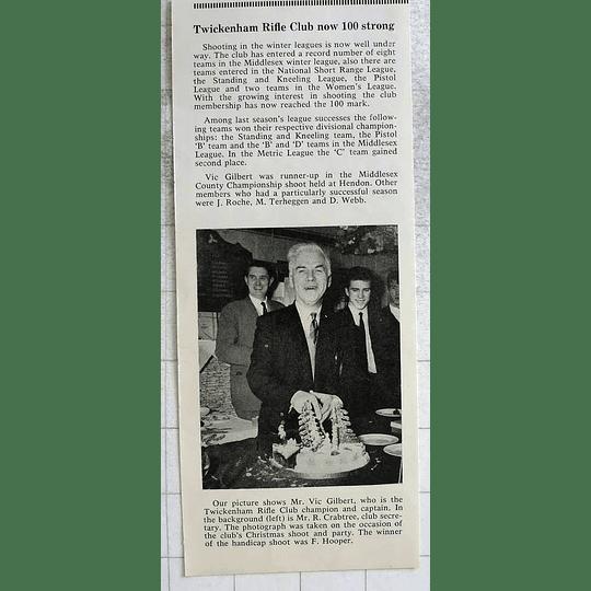 1963 Twickenham Rifle Club Champion And Captain Vic Gilbert
