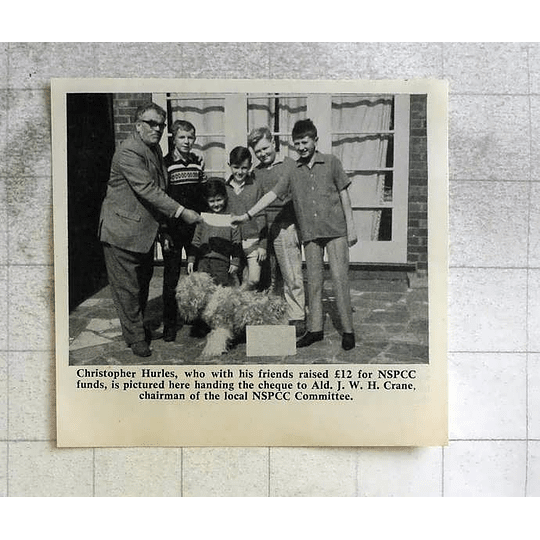 1963 Christopher Hurles With Friends Raised £12 Nspcc