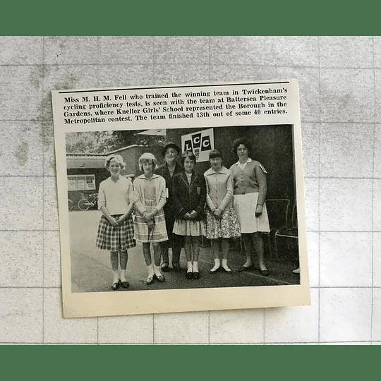 1963 Miss Mh Fell With Twickenham Cycling Proficiency Winners