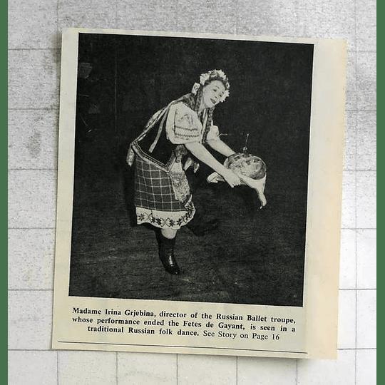 1963 Madame Irina Grjebina Russian Ballet