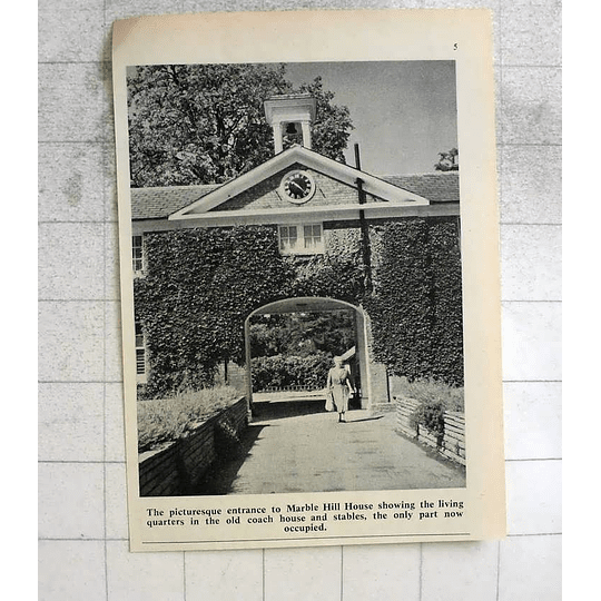 1963 Picturesque Entrance To Marble Hill House