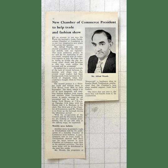 1963 Twickenham Chamber Of Commerce, Alfred Woods