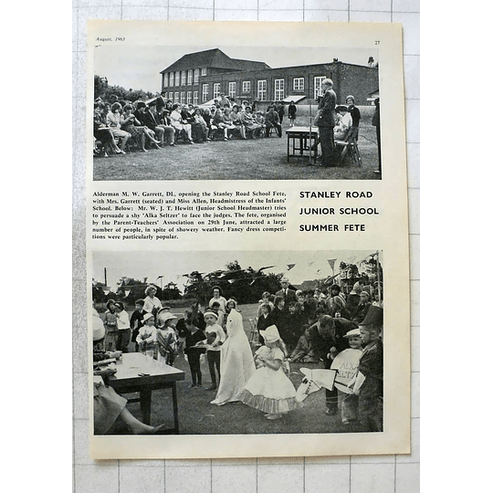 1963 Stanley Road Junior School Summer Fete, Shy Alka-seltzer