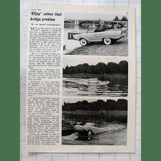 1963 Ald Fj Edwards Testing Efjay Empty Car Hampton Court