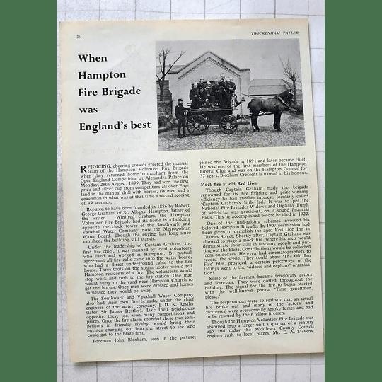 1963 When Hampton Volunteer Fire Brigade Was England's Best