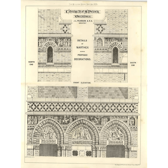 1875 Church Of St Peter Vauxall Details Of Proposed Decorations