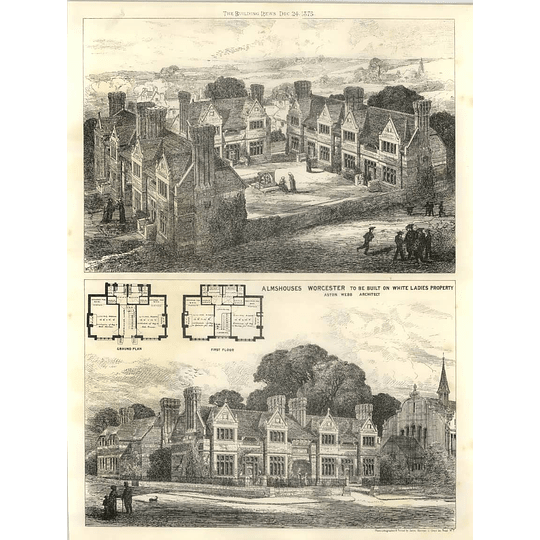 1875 Almshouses Worcester To Be Built On White Ladies Property