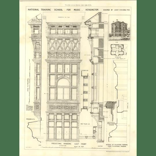 1875 National Training School For Music, Kensington, Plans, Detail