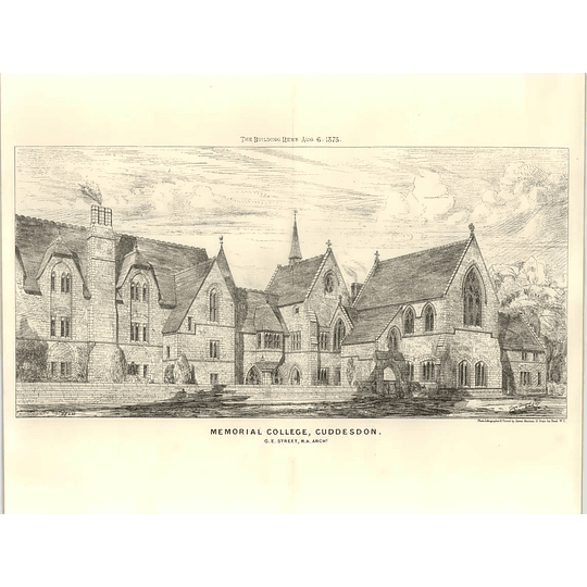 1875 Memorial College Cuddesdon Ge Street Architect