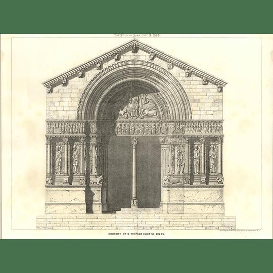 1874 Doorway Of St Tropham Church Arles