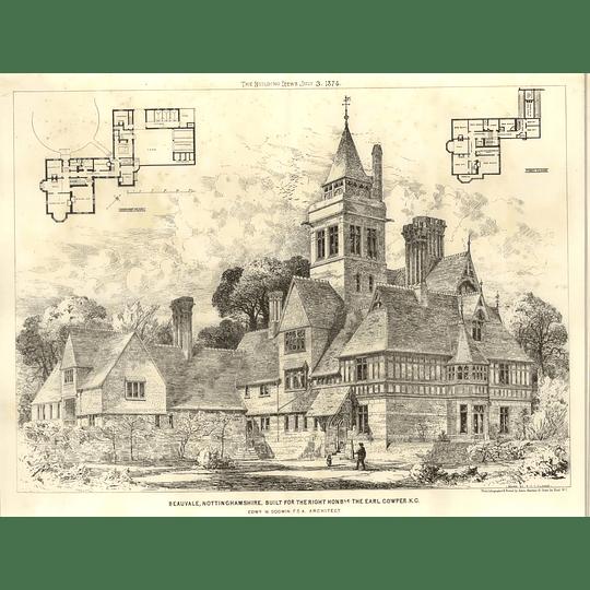 1874 Beauvale, Nottinghamshire Built For The Earl Cowper