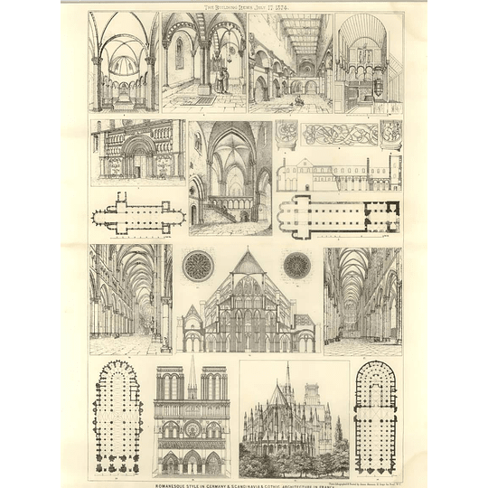 1874 Romanesque Style In Germany And Scandinavia, Gothic In France