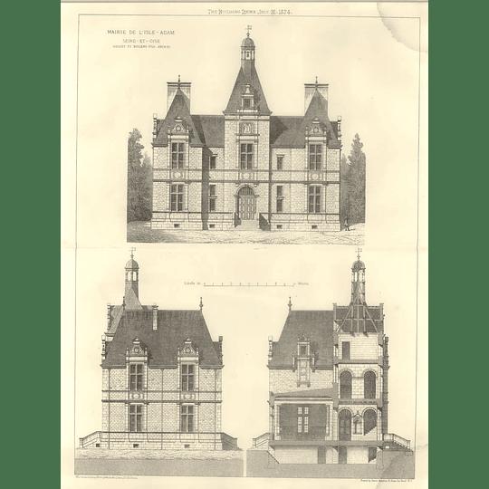 1874 Mairie De L'isle Adam, Seine-et-oise, Design