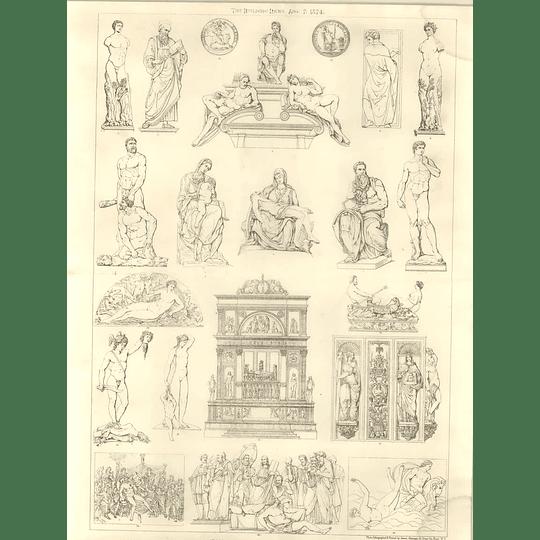 1874 Italian Sculptures Of The 16th Century