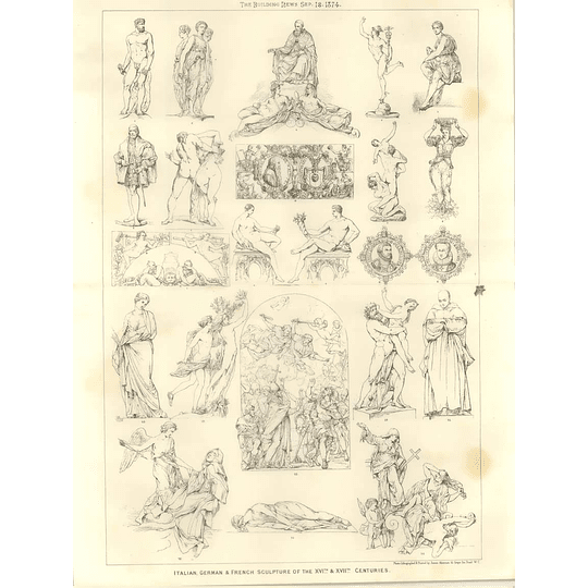 1874 Italian German And French Sculpture Of 16th And 17th Centuries