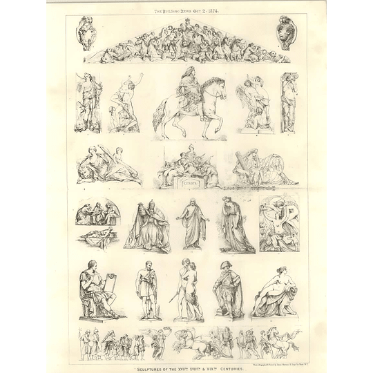 1874 Sculptures Of The 17th 18th And 19th Centuries