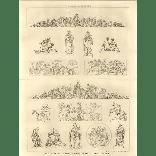 1874 Sculptures Of The German School, 19th-century