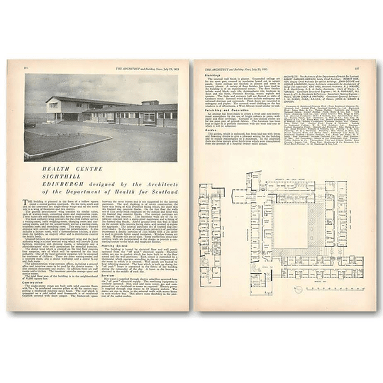 1953 Health Center Sighthill Edinburgh