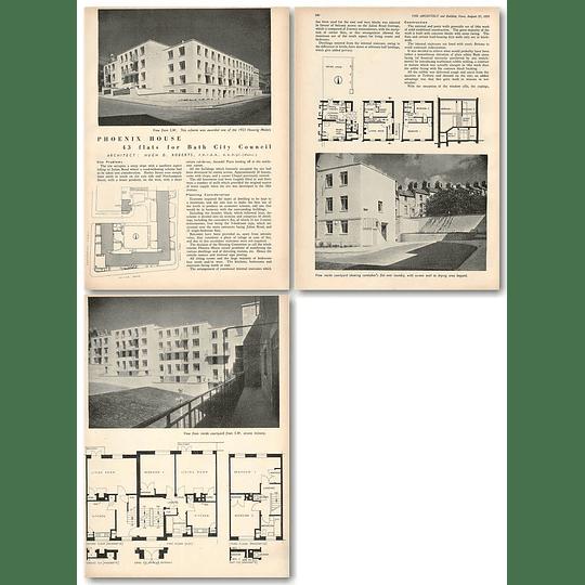 1953 43 Flats, Phoenix House For Bath City Council