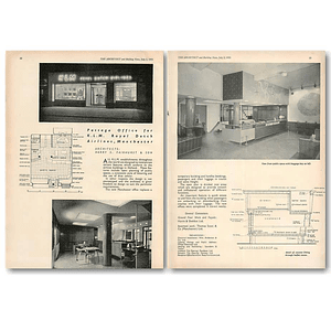 1953 Passage Office For Klm Royal Dutch Airlines Manchester
