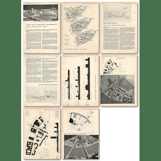 1953 Lcc Plans For Southbank Permanent Development