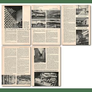 1953 Contemporary Architecture Of Brazil