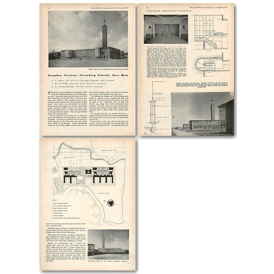 1953 Langdon Crescent Secondary Schools, East Ham