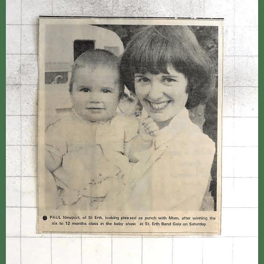 1975 Paul Newport, St Erth Baby Show Winner