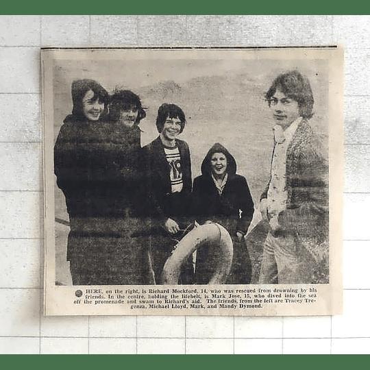 1975 Richard Mugford Rescued By Mark Jose, Tracey Tregenza, Mandy Dymond