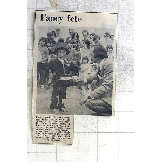 1975 Four-year-old Christine Oram Prize Fancy Dress Connor Downs