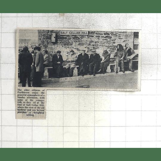 1975 Old Folks Enjoying Sunday Afternoon Salt Cellar Hill Porthleven