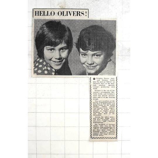 1975 Nicholas Pascoe And Terence Nettle Playing Oliver Redruth