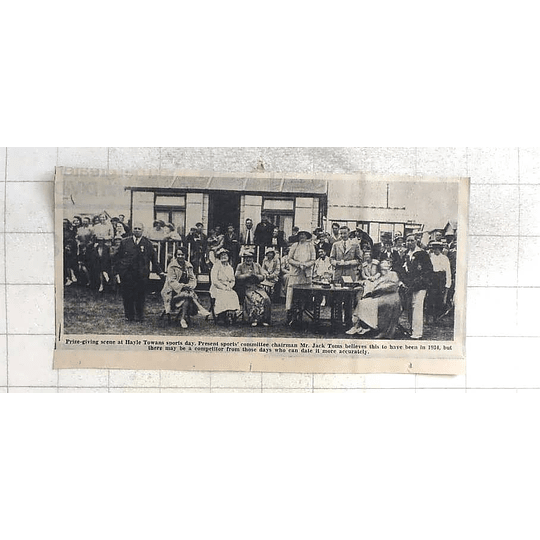 1975 Prize-giving At Hayle Towan's Sports Day, 1934, Jack Toms