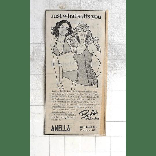 1975 Anella Chapel Street Penzance For Berlei Seabodies