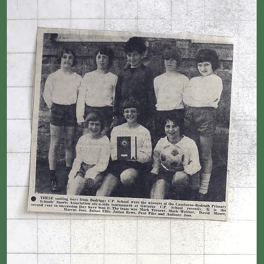 1975 Bodriggy School Boys Football Team, Webber, Ellis, Pike, Jose, Treneer,rowe
