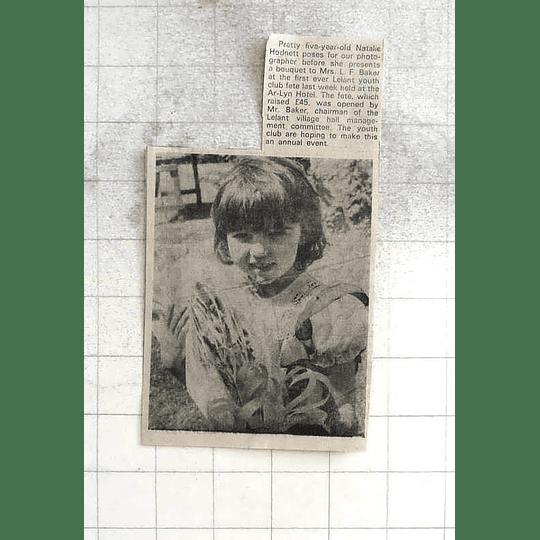 1975 Pretty Five-year-old Natalie Hodnett At Ar-lyn Hotel Lelant