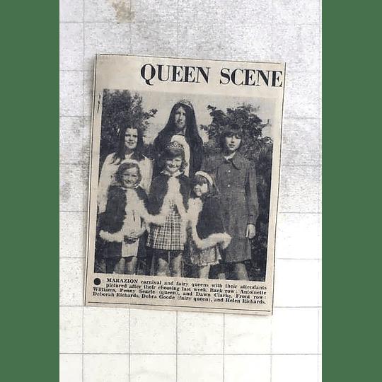 1975 Marazion Carnival Fairy Queen's Antoinette Williams, Debra Goode, Helen Ric