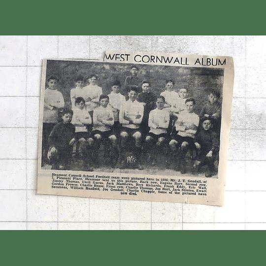 1975 Heamoor Council School Football Team 1926 Lucas, Semmens, Wall, Burt