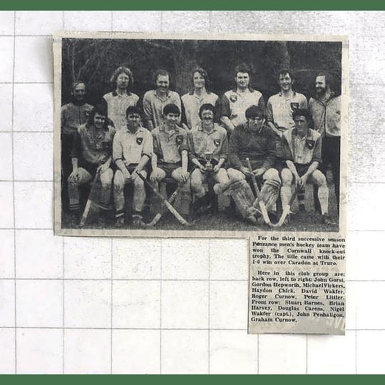 1975 Penzance Men's Hockey Team Gorst, Hepworth, Chick, Littler, Wakfer,