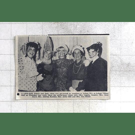 1975 Lelant Wi The Village Hall Angela Sandow, Aldrina Kendall, Jettie Hill
