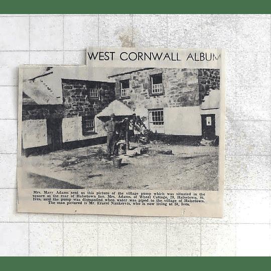 1975 Village Pump In The Square Halsetown Inn St Ives, Ernest Nankervis