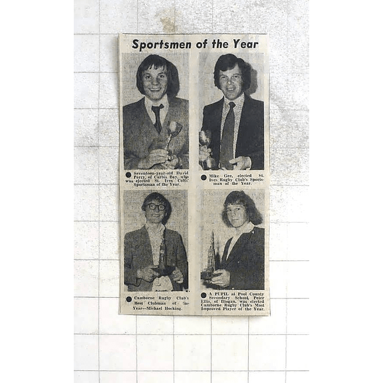 1975 Sportsmen Of The Year Perry, Gee, Hocking, Ellis, St Ives, Camborne