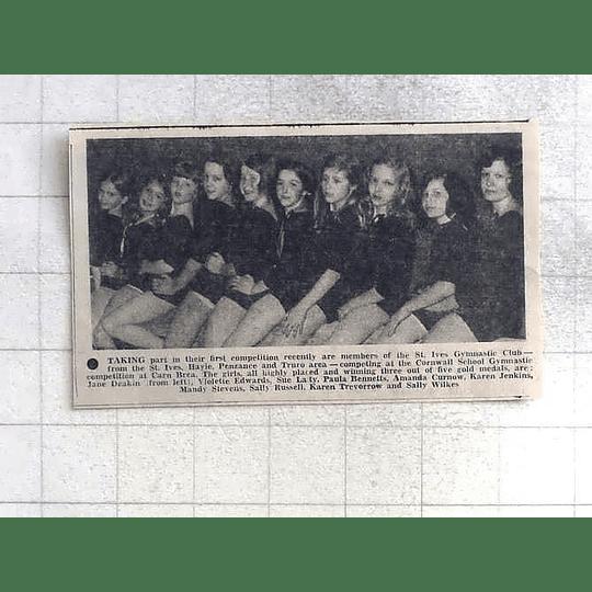 1975 St Ives Gymnastic Club Members Team Photo Edwards, Jenkins, Trevorrow