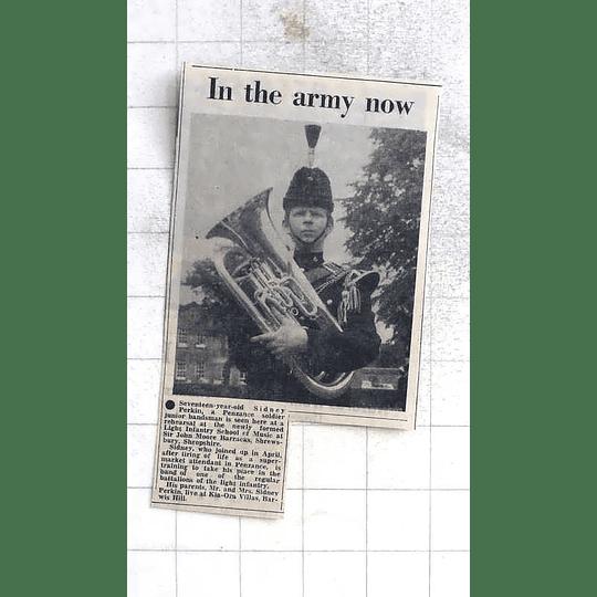 1975 17-year-old Sidney Perkin Penzance Soldier Junior Bandsman