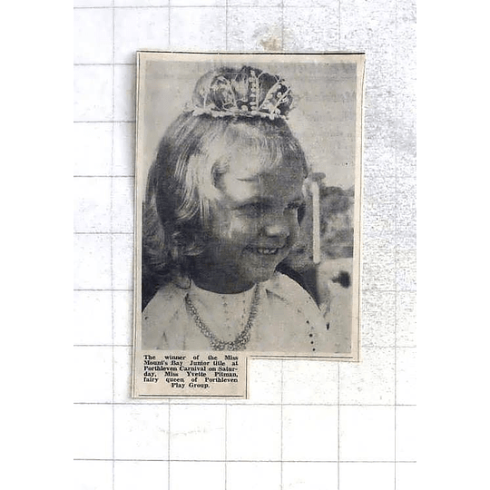 1975 Miss Yvette Pitman Fairy Queen Of Porthleven Playgroup