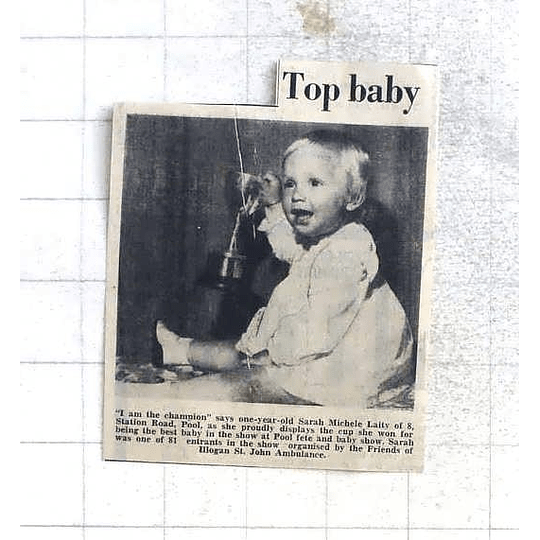 1975 Champion Baby One-year-old Sarah Laity Station Road Pool