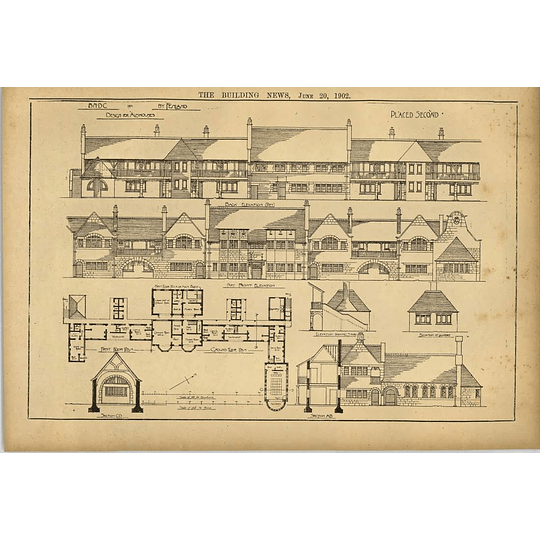 1902 Design For Almshouses Placed Second Fenland