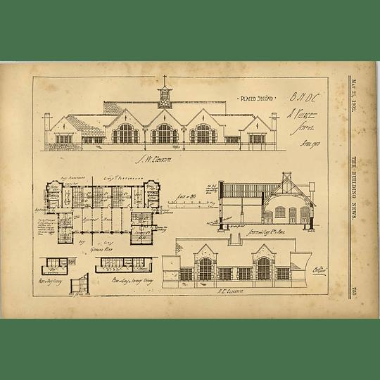 1902 Design For A Village School Bv Grip